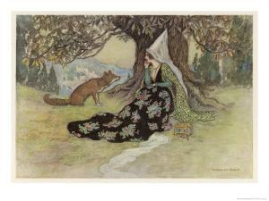 The Serpent, Grannonia and the Fox by Warwick Goble