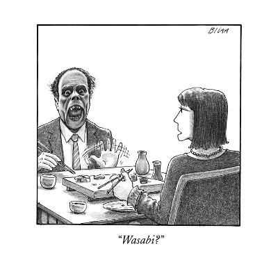 """Wasabi?"" - New Yorker Cartoon--Premium Giclee Print"