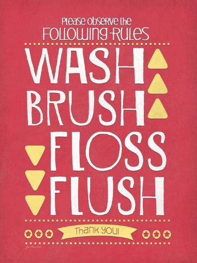 Wash Brush Floss Flush-Jo Moulton-Art Print