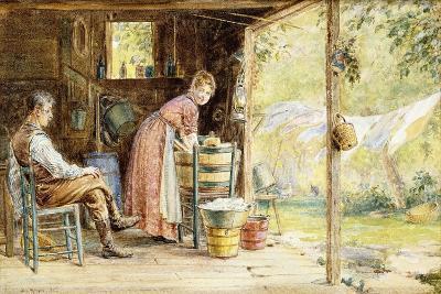 Wash Day, 1890-Edward Lamson Henry-Giclee Print
