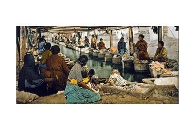 Wash Day in Mexico City, Pub. Detroit, 1880-1900-William Henry Jackson-Giclee Print