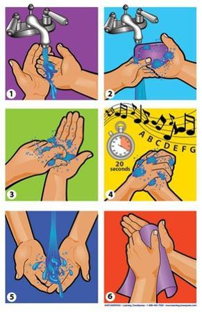 Wash Your Hands Graphics Poster