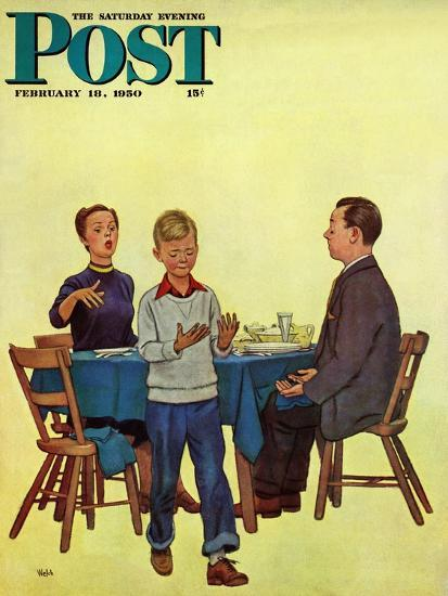 """""""Wash Your Hands"""" Saturday Evening Post Cover, February 18, 1950-Jack Welch-Giclee Print"""
