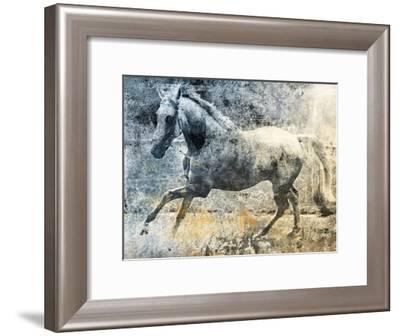 Washed Out Horse-Jace Grey-Framed Art Print