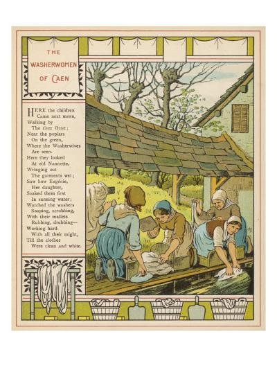 Washerwives' of Caen, Normandie (France) Washing their Clothes at the Communal Lavoir--Giclee Print