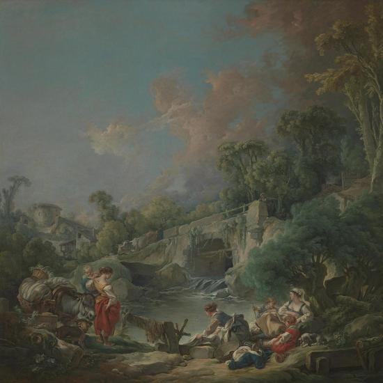 Washerwomen, 1768-Francois Boucher-Giclee Print