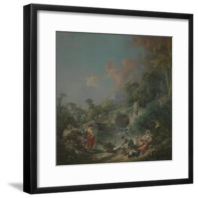 Washerwomen, 1768-Francois Boucher-Framed Giclee Print