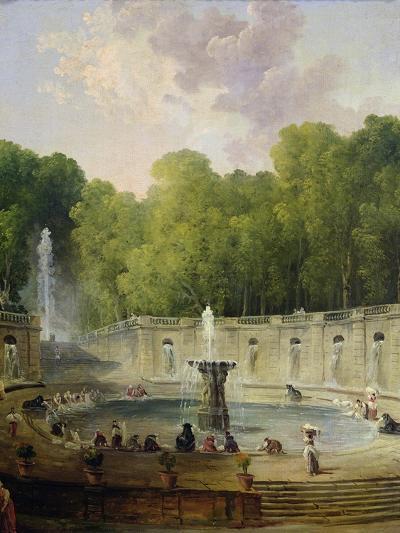 Washerwomen in a Park-Hubert Robert-Giclee Print