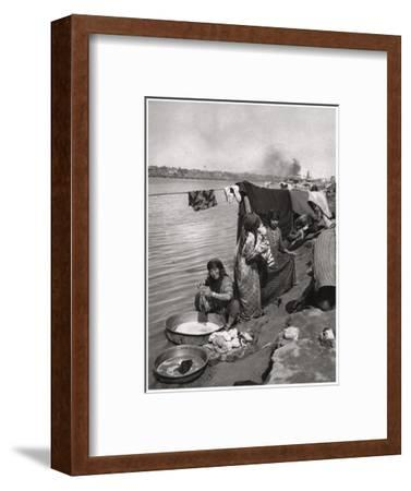 Washerwomen on the Banks of the Tigris, Baghdad, Iraq, 1925