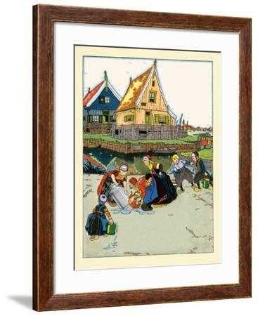 Washing And Fetching Water- Maud & Miska Petersham-Framed Art Print