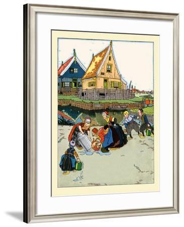 Washing And Fetching Water- Maud & Miska Petersham-Framed Art Print