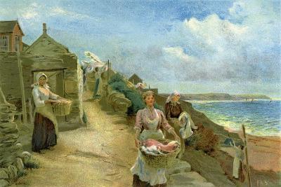 Washing Day, 1905-Alf Cooke-Giclee Print