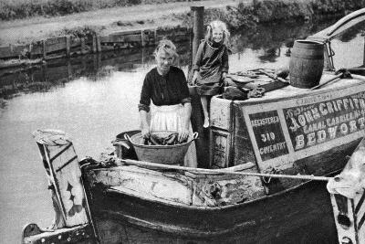 Washing Day on the Canal Boat, 1926-1927--Giclee Print