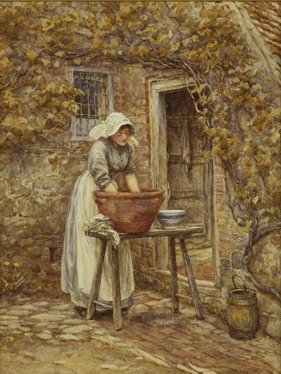 Washing Day-Helen Allingham-Giclee Print