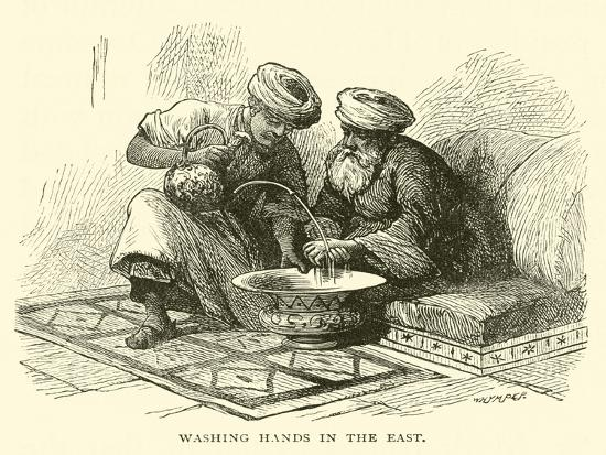Washing Hands in the East--Giclee Print