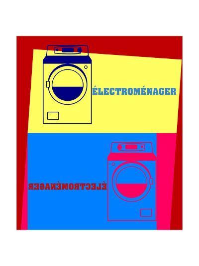 Washing Machine Pop Art-Argentique-Art Print
