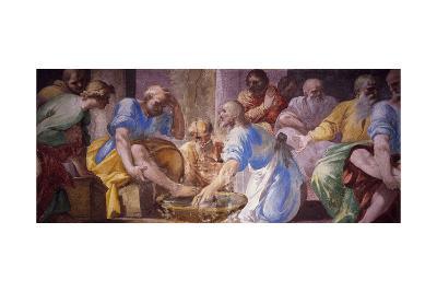 Washing of Feet, Detail of Fresco Life of Jesus--Giclee Print