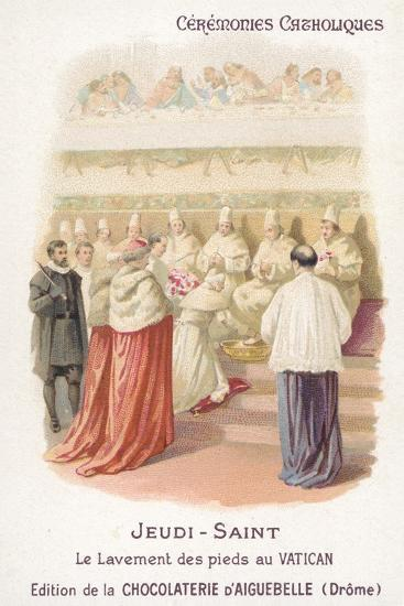 Washing of the Feet in the Vatican, Maundy Thursday--Giclee Print