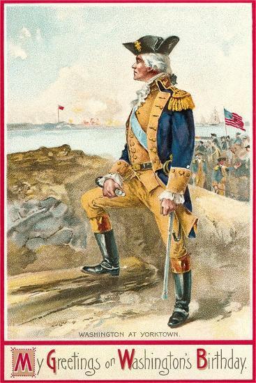 Washington at Yorktown--Art Print