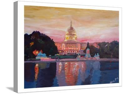Washington Capitol1-M Bleichner-Stretched Canvas Print