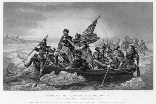 Washington Crossing the Delaware, 1776-Emanuel Gottlieb Leutze-Giclee Print