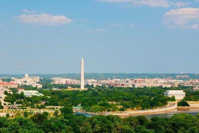Washington D.C. aerial view with US Capitol, Washington Monument, Lincoln Memorial and Potomac R...--Photographic Print