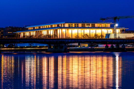 WASHINGTON D.C. -Kennedy Center Performing Arts with reflection on Potomac River - Washington D.C.--Photographic Print