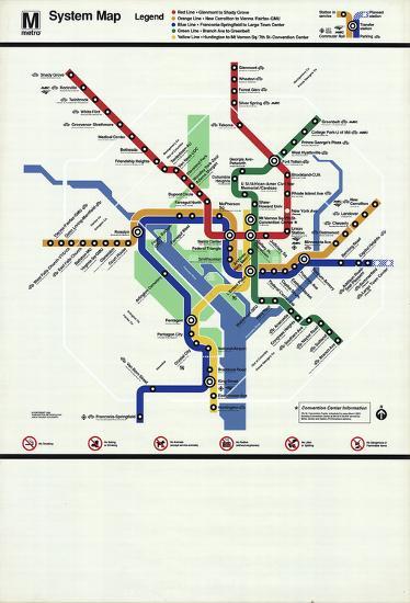 Washington D.C. Subway Map-Unknown-Serigraph