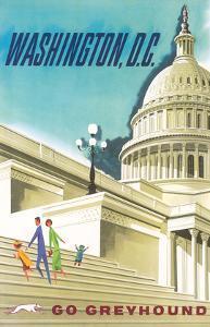 Washington, D.C. USA, United States Capitol Building, Go Greyhound