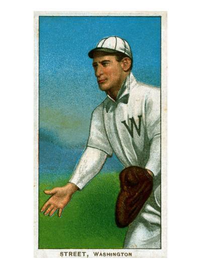 Washington D.C., Washington Nationals, Gabby Street, Baseball Card-Lantern Press-Art Print