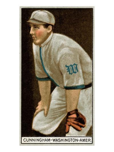 Washington D.C., Washington Nationals, William Cunningham, Baseball Card-Lantern Press-Art Print
