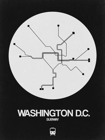 Dc Subway Map Pillow.Washington D C White Subway Map Art Print By Naxart Art Com