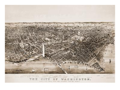 Washington DC, 1892-Currier & Ives-Giclee Print