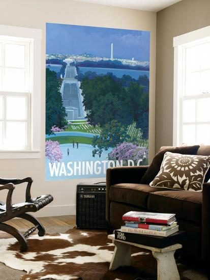 Washington DC, Arlington National Cemetery-Lantern Press-Wall Mural