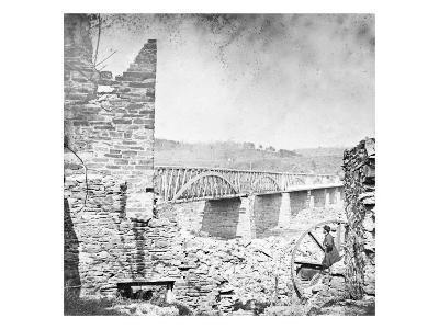 Washington, DC, Chain Bridge Near Washington, Civil War-Lantern Press-Art Print