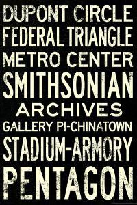 Washington DC Metro Stations Vintage Retro Metro Travel