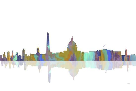 Washington DC Skyline 2-Marlene Watson-Giclee Print