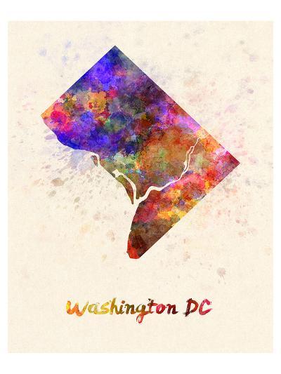 Washington Dc Splatter Skyline--Art Print