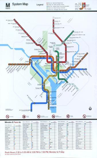 Subway Map Washington Dc.Washington Dc Subway System Map Serigraph By Art Com