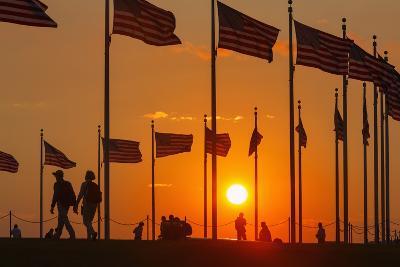 Washington DC Sunset.-Jon Hicks-Photographic Print