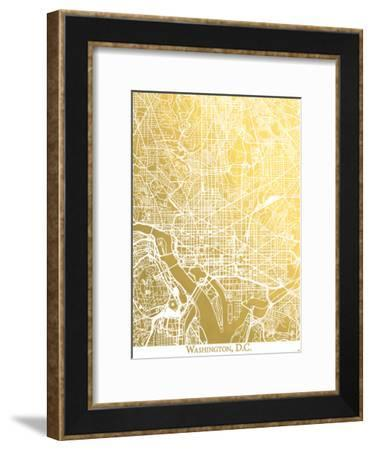 Washington Dc-The Gold Foil Map Company-Framed Art Print