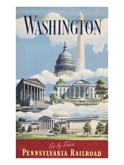 Washington, Go By Train--Giclee Print