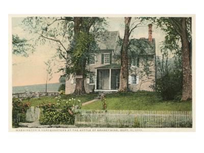 Washington Headquarters at Battle of Brandywine, New York--Art Print