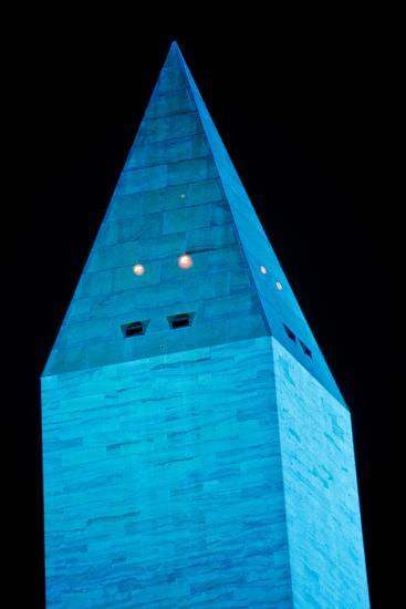 Washington Monument at night, Washington DC, USA--Photographic Print
