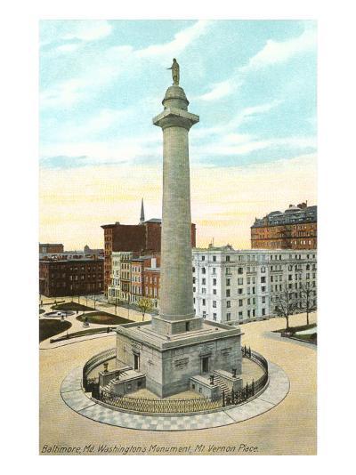 Washington Monument, Baltimore, Maryland--Art Print