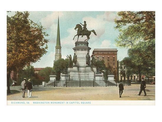 Washington Monument, Richmond, Virginia--Art Print