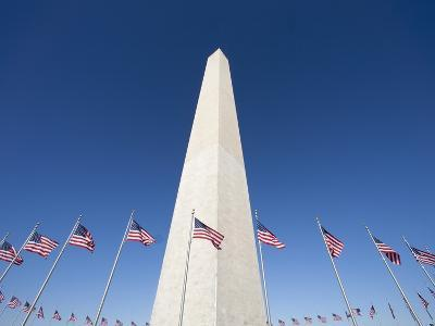 Washington Monument surrounded by American flags-Jos? Fuste Raga-Photographic Print