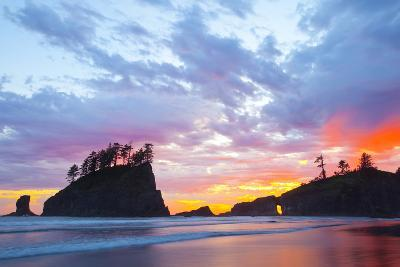 Washington, Olympic National Park. Second Beach at Sunset-Jaynes Gallery-Photographic Print