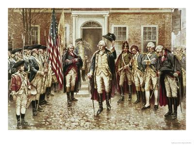 Washington's Farewell to His Officers-Edward Moran-Giclee Print