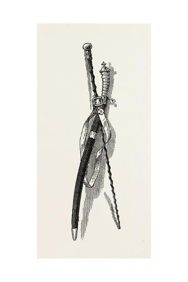 Washington's Sword and Staff, USA, 1870s--Giclee Print